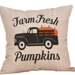 Other - Pillow Cover- New- Fall Thanksgiving Pumpkin Truck